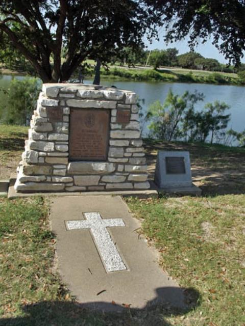 Monument to first Texas Mission.
