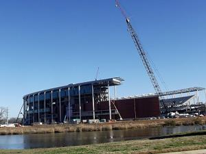 New Baylor Stadium across the river from the Riverwalk