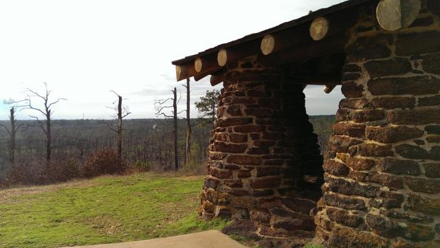 Arrestingly primitive-looking CCC-built overlook