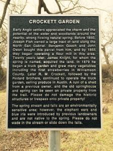 Crockett Garden Marker