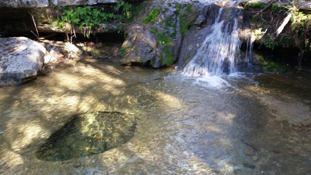 Waterfall and waterhole