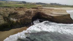 Water meets rock