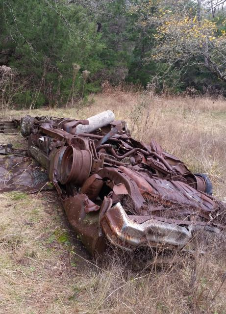 Wreckage in the field
