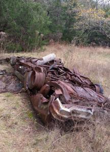 Wreckage in the field