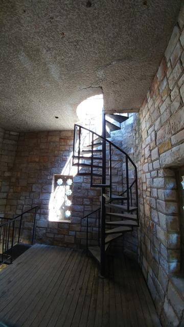 Spiral staircase in the observation tower