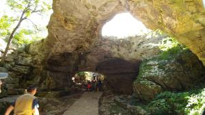 Entrance to the caves