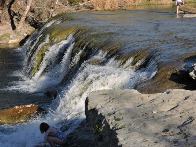 falls on the creek