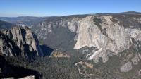 A view of El Capitan and part of the western half of Yosemite Valley as seen from Taft Point.