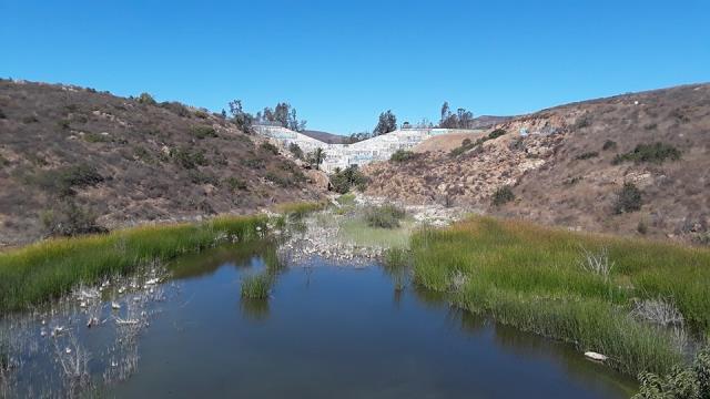 Old Upper Otay Lakes Dam