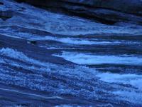 falls using blue filter