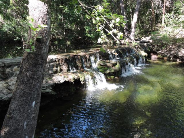 low water dam at creek
