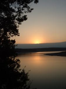 Sunset over Georgetown Lake on Christmas Day, 2008