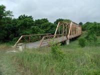 The Hoxie Bridge is one of the old Williamson County bridges salvaged from the scrap yard for the trail.