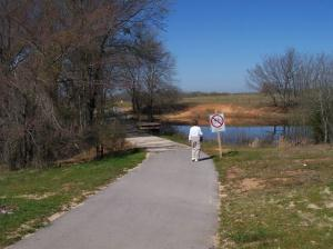 Pond at trailhead