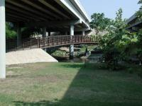 This foot bridge provides an easy crossing of Brushy Creek.