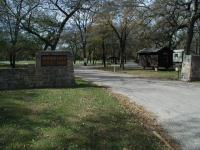 The entrance to the park.  The ranger station and trailhead lie just to the right.