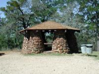 Many Bastrop State Park hikes start near this gazebo.
