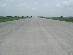 Runway facing north