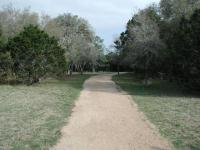 The terrain at the start of the trail is easy enough for hikers of all abilities.