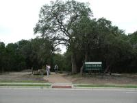 The entrance to the park along Republic of Texas Blvd.