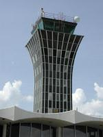The control tower of Mueller was a distinctive shape on the skyline of Austin.