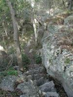 In the rocky creek canyon portion of the hike the terrain can be steep, but such spots are not too numerous.