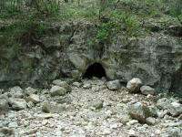 This cave lies near the trail, on the opposite side of the creek bed.