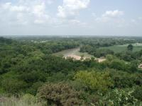 The parks sits on a high ridge line overlooking the town of La Grange.  This provides some spectacular views.