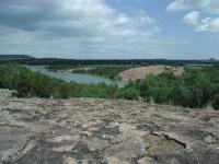 Along the trail are several great views of Inks Lake.  This spot sits on a granite dome and another dome can be seen across the water.