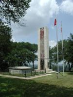 This monument and crypt was erected in the 1930's to honor the fallen soldiers of a Republic of Texas military expedition.