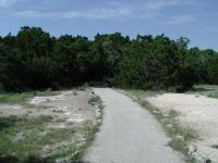 The start of the trail has some open spaces, but that soon ends.