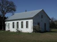 The old Nameless school house, the only structure from Nameless still standing.