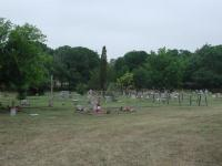 A wide angle view of the cemetery.