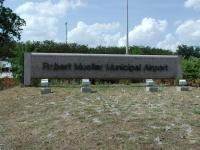 The sign at the airport entrance off of Airport Blvd.  Future generations will wonder why the street is named that.