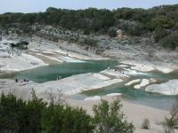 Looking down on Pedernales Falls.  The true extent of the falls cannot be captured in one picture.
