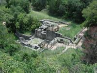 The Brewery overlook provides a bird's eye view of the ruins of Kreische's business.