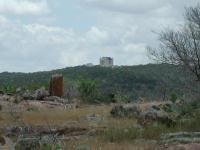 Views of nature are not the only things to be seen from the trail.  Here's a castle, right here in the Hillcountry.