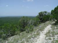 The loop trail almost encircles a small hill, providing views from many angles.