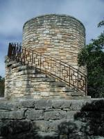 The distinctive rock water tower is the signature structure of the park.  It also provides a platform for overlooking the surrounding area.