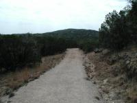 A good portion of the Wolf Mountain Trail is an old jeep trail.