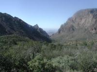The Window is the notch in the rock centered here.  The entire Chisos Basin drains through this one spot.