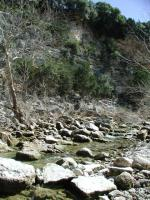 Barton Creek meanders past several sheer rock walls.