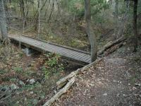 The trail is in great shape and bridges, such as this one, make crossing the creek easy.