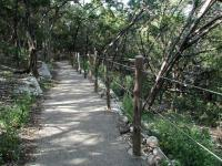 The trail surface is paved throughout, making the hike easy for all.