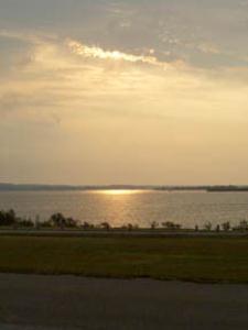 Sunrise over Stillhouse Hollow Lake