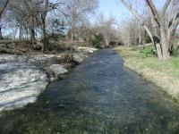 Gilleland Creek as it passes through Pfluger Park.