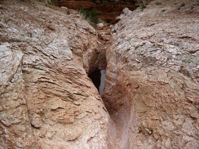 Trough cut through Gypsum