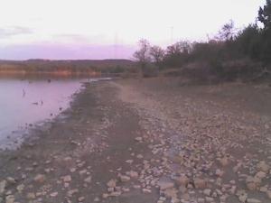 Joe Pool Lake shore