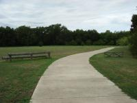 The loop at the end of the southern half of the trail has yet more picnic benches and an open field.