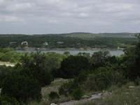 One of the few views of Lake Travis available on the trail.